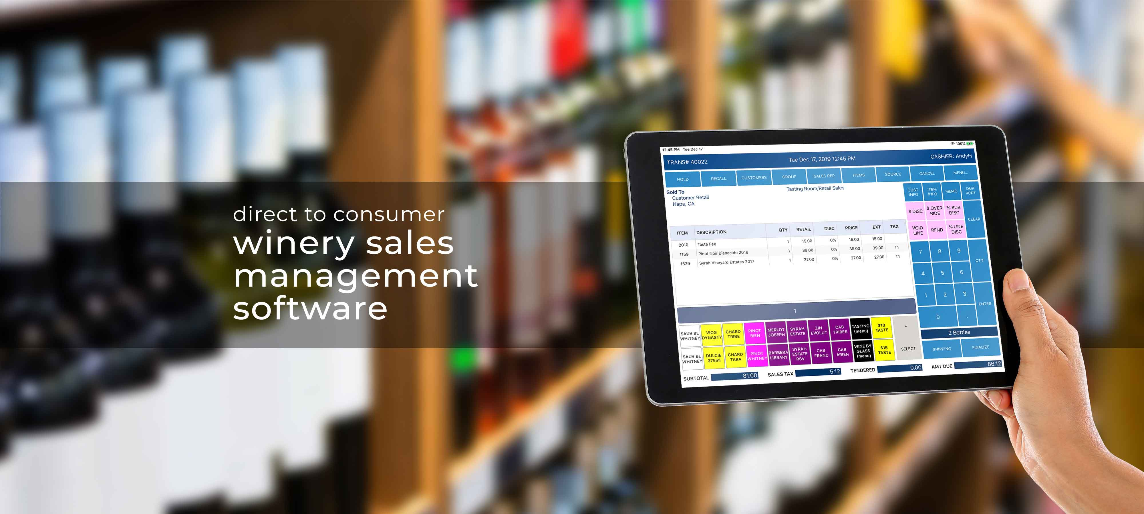 Wine Software by Microworks winery management software home